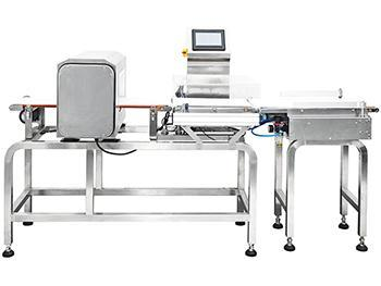 Combined metal detector and check weigher