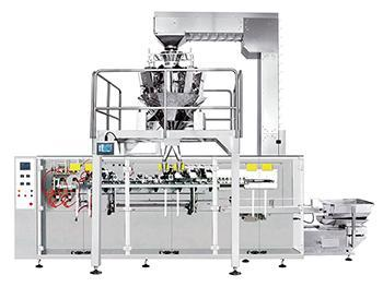 JW-JDC2 Form-Fill-Sealing Systems with Horizontal Bagger, 12 heads weigher
