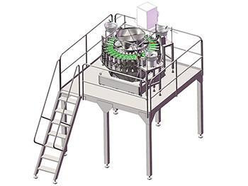 JW-MIX32 Automatic Packing Line with 32 Multihead combination Scale,Vibratory Screw Feeder